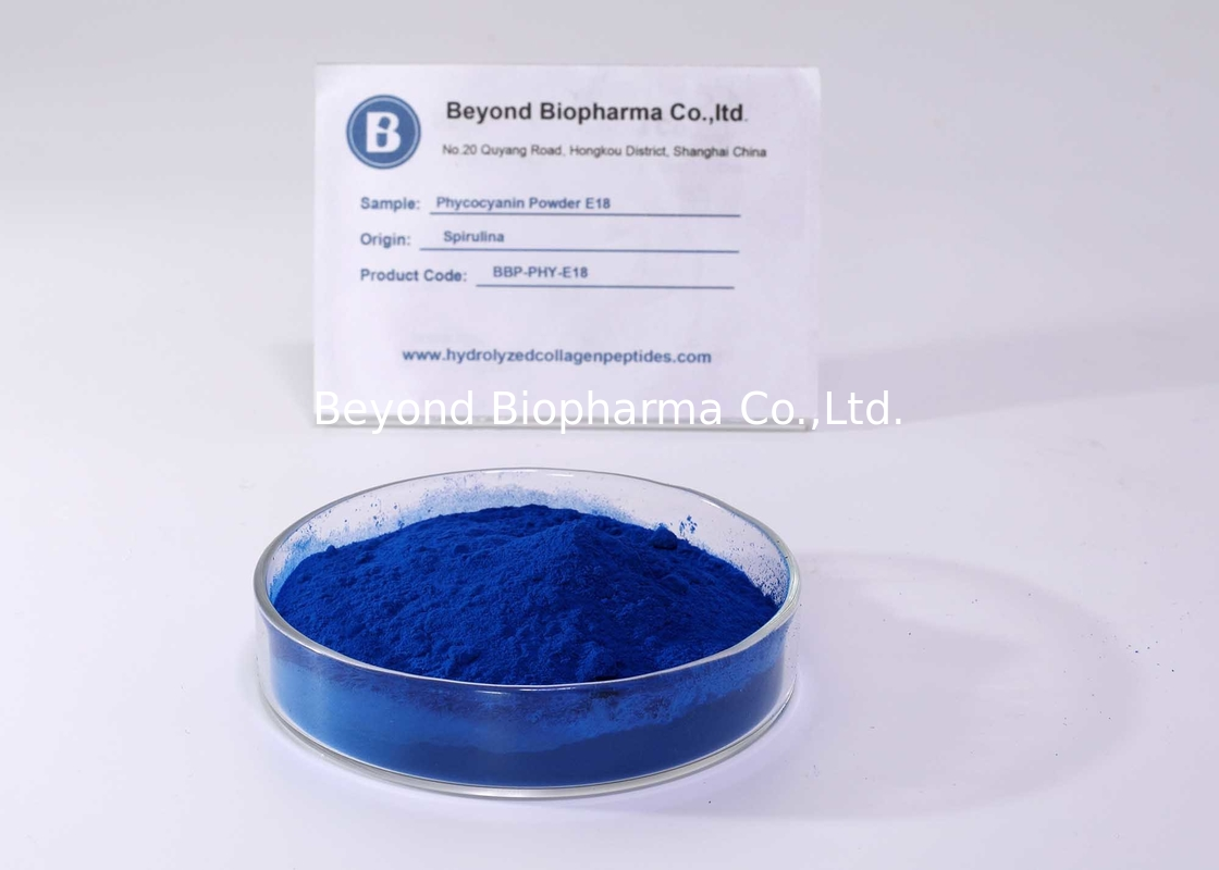 Fluorescence E18 Phycocyanin Powder As Natural Blue Pigment For Food Colorant